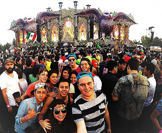 Flyboost Powers Live Social Displays at Electric Daisy Carnival Mexico - March 2015